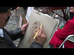 A_pastel_portrait_Tutorial_from_the_Place_du_Tertre_in_Paris